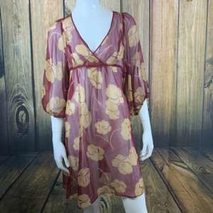 anthropologie  Floral Sheer Tunic